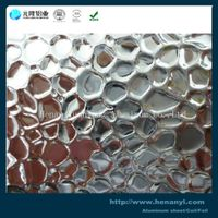 high quality embossed aluminum sheet stucco hammerstone rhombus manufacture