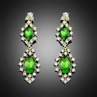 New arrival hot sales Lovely Cute Sweet Faux Crystal Rhinestone dangle earrings Free Shipping & Whol thumbnail image