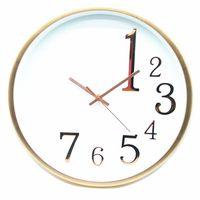14 inch gold modern living room plastic wall clock