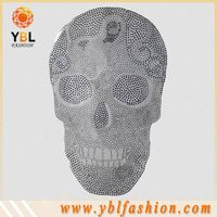 Skull hot fix rhinestone transfer motif garment accessories