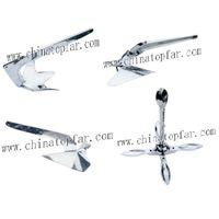 Boat and luxury yacht anchor:Stainless steel(SS316) Bruce anchor,Plough anchor,Danforth anchor
