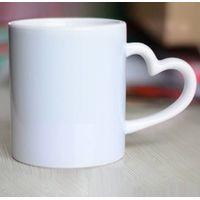 11oz heart shaped handle sublimation mug thumbnail image