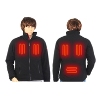 Waterproof 5V Rechargeable Mens Heated Jacket With 3 Settings