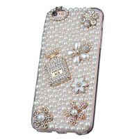 Luxury Pearl Perfume Bottle Cellphone Cases for iPhone X/8/7/6s Plus Samsung Galaxy S6/S7/S8+