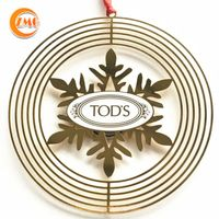 high quality promotional gifts customized logo printed metal spinner ornaments thumbnail image