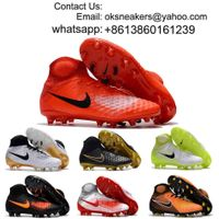 Wholesale magista obra fg Mens Womens High Top Soccer Cleats Boy Girl Football Shoes