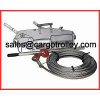 Wire rope pulling hoist application and structure thumbnail image