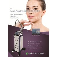 Gold Fractional RF Microneedle Radio Frequency Micro Needle Skin Tighten Wrinkle Removal Therapy Sys