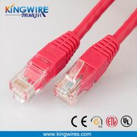 Factory 24awg flat cable supply RJ45 plug cat5e cable Wholesale