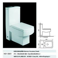 comfortable bathroom ceramic toilet Siphonic One-piece Closet