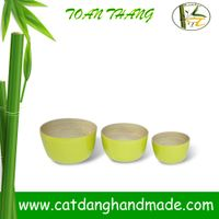Eco-friendly Bamboo Fiber Storage bowl, Decorating bamboo bowl
