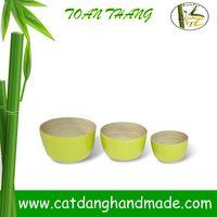 Eco-friendly Bamboo Fiber Storage bowl, Decorating bamboo bowl