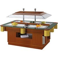 Stainless steel & wood mini salad bar CE approved build a salad bar