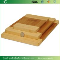 Thick Strong Bamboo Wood Cutting Board With Beautiful White Edge