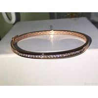 NEFFLY New Arrival High Quality Single row of Diamond Bracelet Bangle Bracelet S925 Silve 18K gold.
