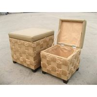 Storage boxes and bins made by paper and rush
