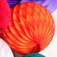 Small Wholesale Order Colorful Paper Honeycomb Balls for Wedding, Baby Shower Homedecoration