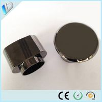 Customized gun black plated metal perfume bottle cap