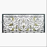 Hand forged iron railing design