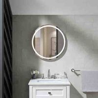 Aluminum frame wall mounted illuminated bath LED mirror