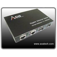 10/100/1000M 2RJ45+2SFP Fiber Optic Media Converter thumbnail image
