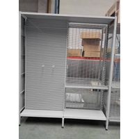 AU50 outrigger shelving with alu slatwall back