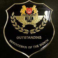 High quality soft enamel epoxy gold large emblem badges