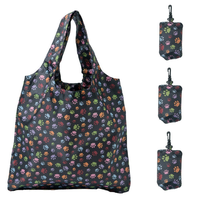 Heavy Duty Foldable Shopping Tote nylon Bag, Holds Up To 42 lbs-Dog Paw Prints thumbnail image