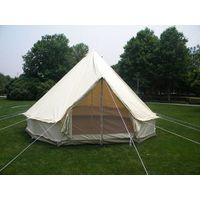 5m Canvas Bell Tent With Canvas Stretch Tarp