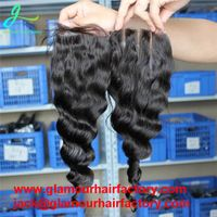 Lace Closure Brazilian Loose Wave Middle Three Part With Baby Hair