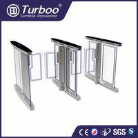 Turboo B323:RFID card reader swing turnstile,Bi-direction barrier gate with finger print thumbnail image