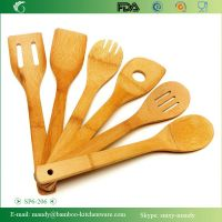 6 Pieces Bamboo Kitchen Utensil Set