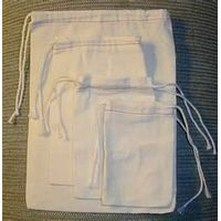 Muslin Bag/ Cotton Drawstring Bag/ Unbleached Muslin Bag
