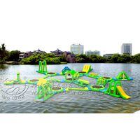 Amazing commercial inflatable water park for lake