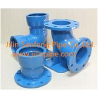 Ductile iron pipe fittings.