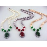 Zustec diamond pearl strand wholesale necklace,AA