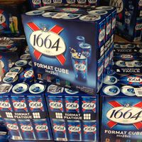 Kronenbourg 1664 blanc beer in blue 25cl and 33cl bottles and 500cl Cans thumbnail image