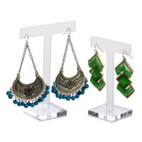 T-Shape Design Quality Clear Acrylic Jewelry Earring Display 1305050mm