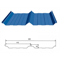820 Bite Type Roof Panel Corrugated Steel Roofing Sheets