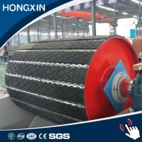 replaceable pulley lagging for belt conveyor