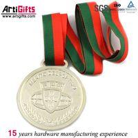 Wholesale metal engrave sliver souvenir medal