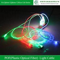 2014 New PLASTIC OPTICAL FIBER Visilble Lighting Data And Charging Cable ,multi-functional lighting thumbnail image
