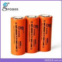 High-tech 26650 li ion battery for e bike 4000mAh 3.7v