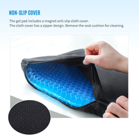 BS-28 Upgrade Flexible 3D ice pad massage Soft Breathable Sitting Non-Slip gel seat cushion for Home thumbnail image