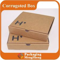 Factory Handmade foldable corrugated carton box specification mail box