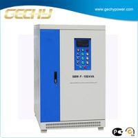 CE ROHS approved 100KVA SBW series three phase compensation AC electrical voltage stabilizer or adju