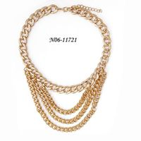 Chain necklace designs simple gold chain necklace with wholesale fashion jewelry in China thumbnail image