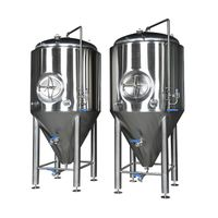 stainless steel beer fermentation tank and bright beer tank with internal mirror polishing