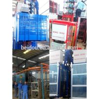 1-4ton loading capacity passenger cum material constriction site building hoist
