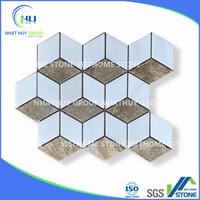 Mixed Colors Hexagon Mosaic Tile from Natural Stones
